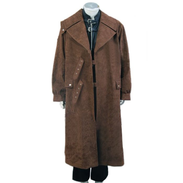 Harry Potter Alastor Moody Mad-Eye Trench Coat Vest Costume