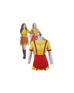 2 Broke Girls Max Caroline Waiter Uniform Dress Costume Cosplay