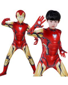 Avengers 4 : Endgame Iron Man Tony Stark Outfit Bodysuit Cosplay Costume Adult Kids