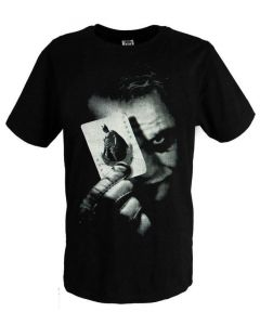 Batman Dark Knight Joker Black Cotton T-shirt Costume