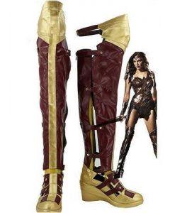 Batman v Superman:Dawn of Justice Wonder Woman Cosplay Shoes