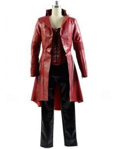 Captain America Civil War Avengers Scarlet Witch Wanda Outfit Cosplay Costume
