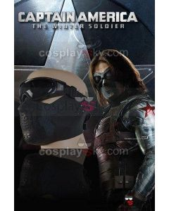 Captain America The Winter Soldier Bucky Barnes Mask Replica With Glasses Cosplay