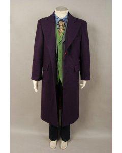 Dark Knight Joker Purple Wool Trench Coat Costume