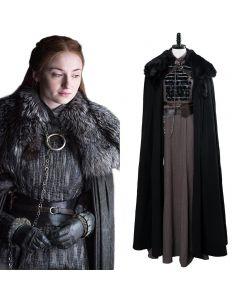Game of Thrones Sansa Stark Outfit Cosplay Costume GOT Women Halloween Costume