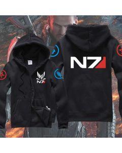 Games Mass Effect MASS Logo Thick Hoodie Jacket Online Games Accessories Men Ver.