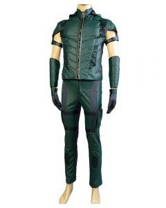 Green Arrow Season 4 Leather Cosplay Costume (No Quiver)