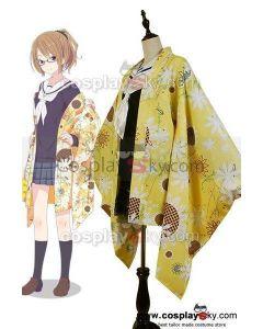 Hanayamata Machi Tokiwa Kimono Outfit Suit Uniform Dress  Cosplay Costume