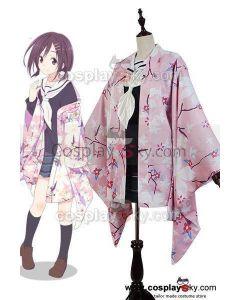 Hanayamata Naru Sekiya Kimono Outfit Suit Uniform Dress Cosplay Costume