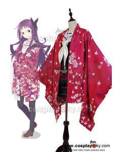 Hanayamata Yaya Sasame Kimono Robe Uniform Outfit  Cosplay Costume