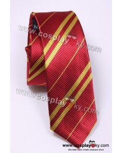 Harry Potter Gryffindor Scarlet & Gold Tie Vintage Silk