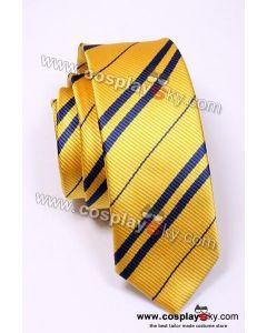 Harry Potter Hufflepuff Yellow & Blue Tie Vintage Silk
