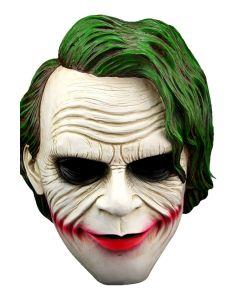 Joker Mask Green Hair Clown Mask Halloween Villain Cosplay Props
