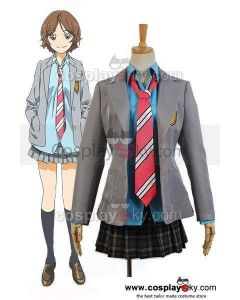 Kimi no Uso Your Lie In April Kaori Miyazono Uniform Dress Cosplay Costume