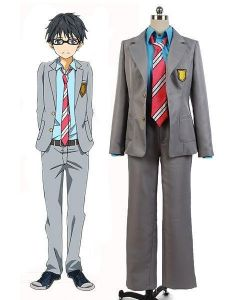 Kimi no Uso Your Lie In April Kousei Arima Uniform Suit Cosplay Costume
