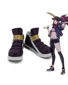 League of Legends The Rogue Assassin Akali K/DA Skin Cosplay Shoes Boots