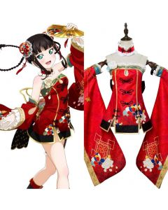 LoveLive Aqours China Dress Ver Kurosawa Dia Cosplay Costume