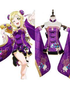 LoveLive Aqours China Dress Ver Mari Ohara Cosplay Costume
