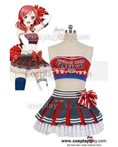 LoveLive! Maki Nishikino Cheerleaders Uniform Cosplay Costume