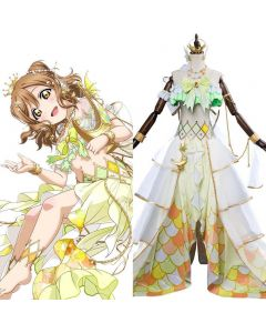 LoveLive Mermaid Festa Kunikida Hanamaru Cosplay Costume Awakening Dress