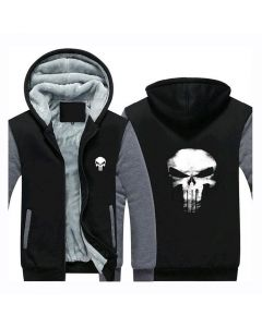 Marvel Comics The Punisher Skull Logo Hoodie Jacket Coat