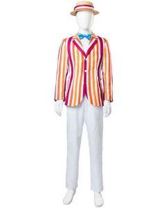 Mary Poppins 1964 Film Bert Dick Van Dyke Suit Cosplay Costume