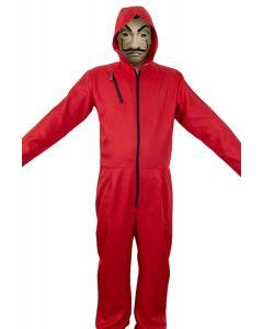 Money Heist Salvador Dali Halloween Jumpsuit Costume Spanish La casa de papel drama Cosplay