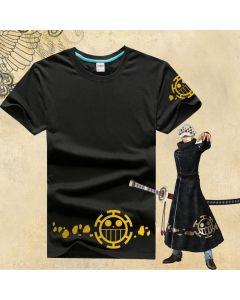 One Piece Trafalgar Law Logo Black T-shirt Cosplay Costume