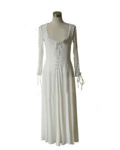 Pirates of the Caribbean Elisabeth Swann White Grown Dress Costume