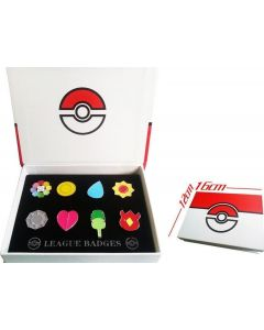 Pokemon Metal Brooch Pin Badge Box Collection Cosplay Accessories