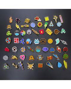 Pokemon XY Kanto Hoenn Kalos Gym Badges Pins Cosplay Gift Collection