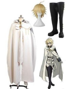 Seraph of the End Vampires Mikaela Hyakuya Cosplay Costume + Wigs + Shoes