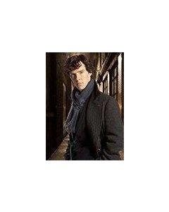 Sherlock Holmes Navy Blue Wool Muffler Scarf