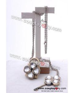 Shugo Chara Dumpty Lock & Key Necklace (Transparent Version)