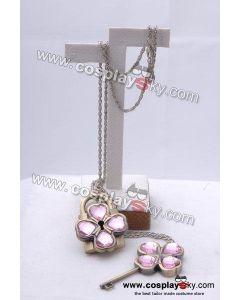 Shugo Chara Dumpty Lock & Key Necklace (Violet Version)