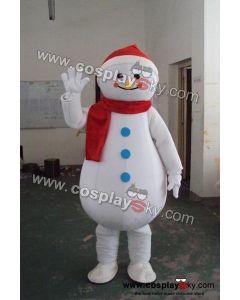 Snowman Mascot Costume Adult Size