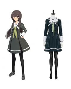 Sword-wielding Shrine Toji No Miko Hiyori Jujo Cosplay Costume Heijou Institute Uniform