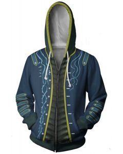 Teen Hoodie Devil May Cry Vergil Zip Up Sweatshirt Adult Unisex