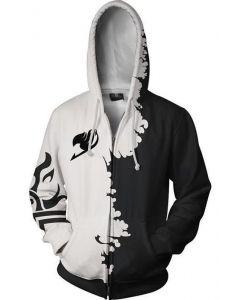 Teen Hoodie Fairy Tail Gray Fullbuster 3D Zip Up Sweatshirt Unisex