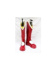 The King Of Fighters Athena Asamiya Cosplay Boots Red