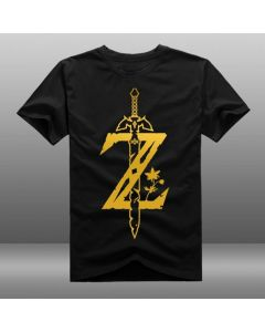 The Legend of Zelda :Breath of the Wild Custom Black T-shirt Costume