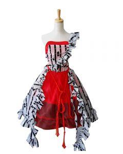 Tim Burton Alice In Wonderland Alice Red Court Um Dress Costume