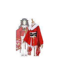 Unbreakable Machine-Doll Yaya Sakura Kimono Costume Cosplay