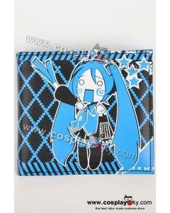Vocaloid Miku Hatsune Themed Blue Wallet Purse