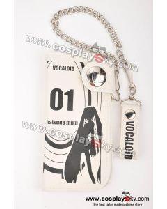 Vocaloid Miku Hatsune Themed White Wallet Purse