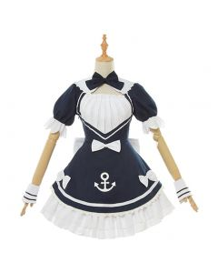 Youtuber Hololive Minato Aqua Maid Dress Cosplay Costume