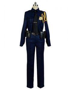 Zootopia Fox Nick Police Uniform Cosplay Costume