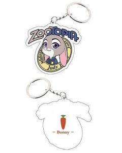 Zootopia Rabbit Judy Keychain Cosplay Accessories