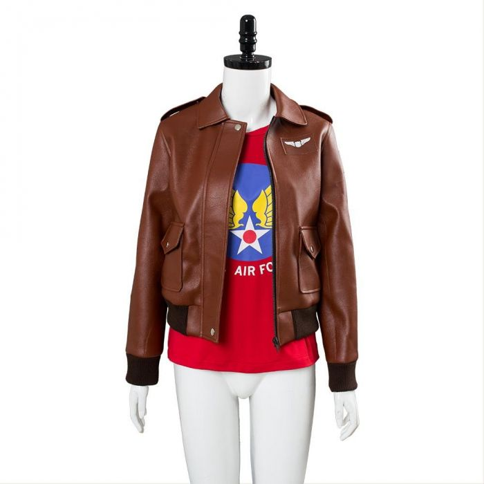Captain Marvel Carol Danvers U S Air Force T Shirt Bomber Jacket Casual Suit Maj stephen cajun del bagno from the thunderbirds demonstration squadron worked with the production and the. captain marvel carol danvers u s air force t shirt bomber jacket casual suit