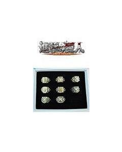Attack on Titan Shingeki no Kyojin Badge Rings Set Bronze